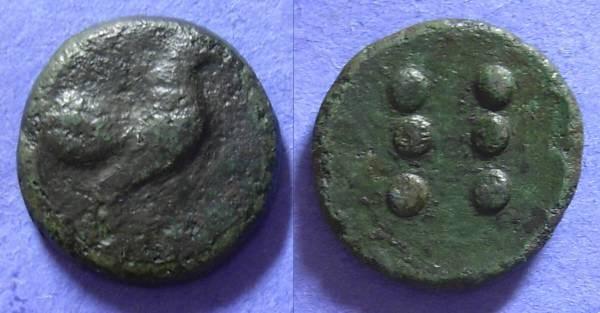 Ancient Coins - Panormos AE Hemilitron Circa 430 BC