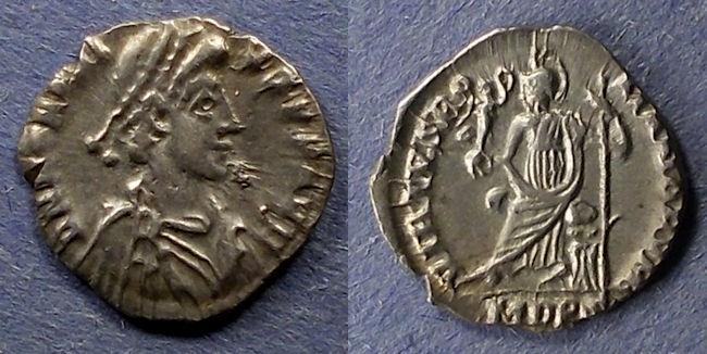 Ancient Coins - Roman Empire, Honorius 393-423, Siliqua