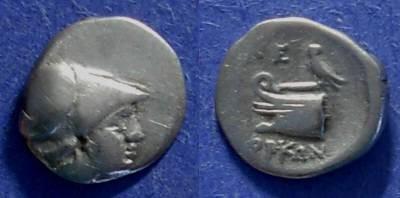 Ancient Coins - Lebedos, Ionia 190 BC, Trihemiobol