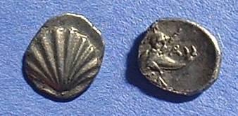 Ancient Coins - Taras Calabria Obol 281-235 BC
