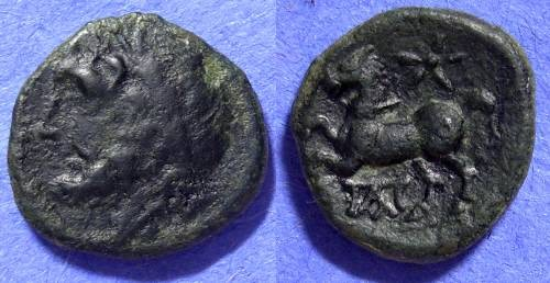 Ancient Coins - Panormos Sicily: AE16 – 241-200BC