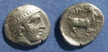 Ancient Coins - Ainos, Thrace Circa 425 BC, Diobol