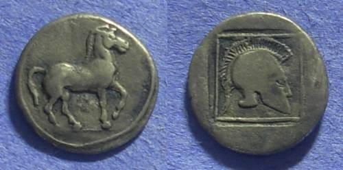 Ancient Coins - Macedonian Kingdom – Alexander I 498-454BC Light tetrobol