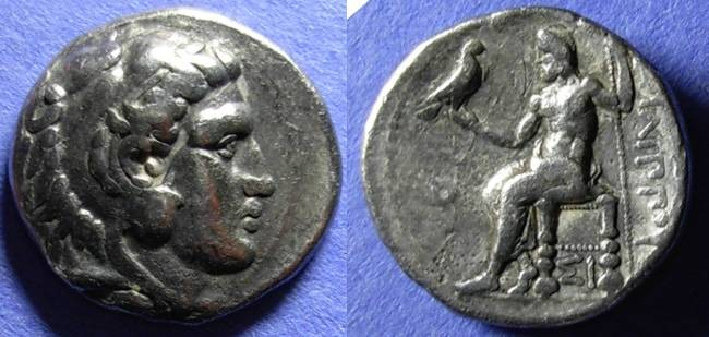 Ancient Coins - Macedonian Kingdom, Philip III 323-317 BC, Tetradrachm