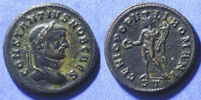 Ancient Coins - Constantius (as Caesar) 293-305 - Follis  Ticinum mint