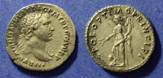 Ancient Coins - Trajan 98-117 AD - Denarius - Choice