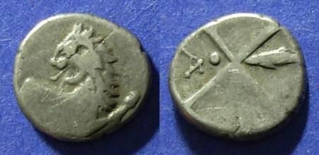 Ancient Coins - Chersonesos, Thrace 400-350 BC, Hemidrachm
