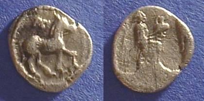 Ancient Coins - Larissa Thessaly AR Obol Circa 440-400 BC