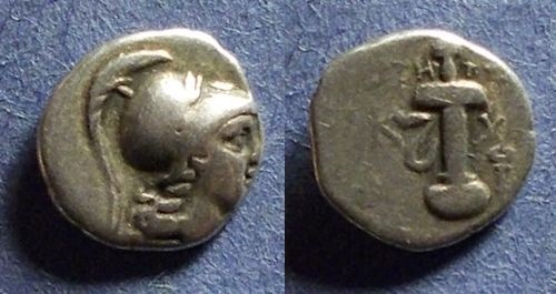 Ancient Coins - Kaunos, Caria 166-100 BC, Hemidrachm