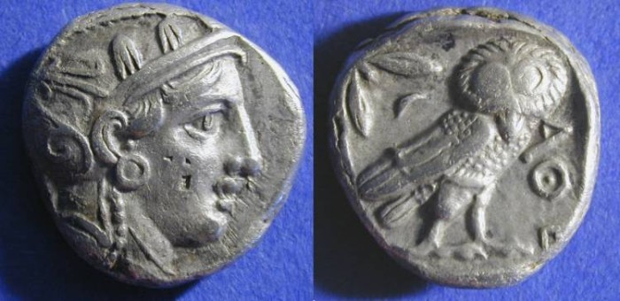 Ancient Coins - Athens - Tetradrachm 393-300 BC - Great for type! - With Pupil!