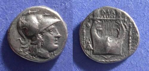 Ancient Coins - Methymna, Lesbos 350-250 BC, Triobol