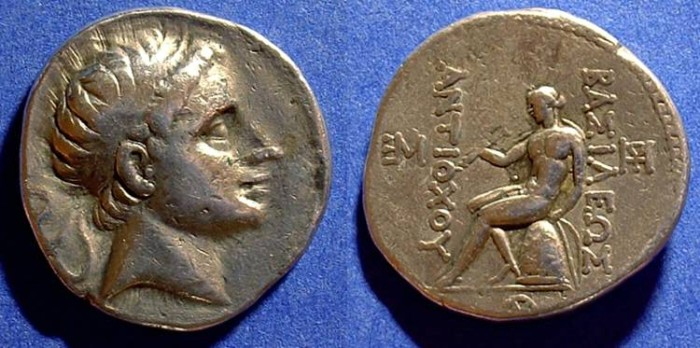 Ancient Coins - Seleucid Kingdom - Antiochos III 223-187BC Tetradrachm