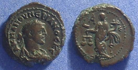 Ancient Coins - Roman Egypt - Numerian (as Caesar) 282/3 - Potin Tetradrachm
