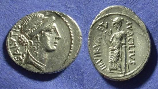 Ancient Coins - Roman Republic - Man. Acilius Glabrio Denarius 49BC