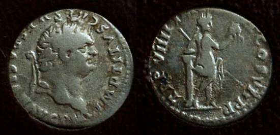 Ancient Coins - Titus (as Augustus) 79-81AD Denarius - Slabbed ICG F12