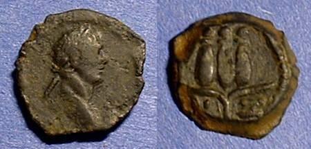 Ancient Coins - Trajan 98-117AD AE hemiobol of Alexandria with hem-hem crown