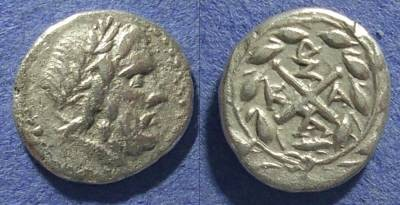 Ancient Coins - Achaian League, Elis Olympia 167-146 BC, Hemidrachm