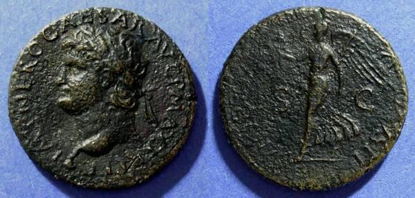 Ancient Coins - Roman Empire, Nero 54-68 AD, Dupondius