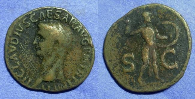 Ancient Coins - Claudius 41-54AD – Aes