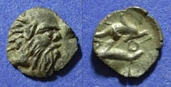 Ancient Coins - Thasos, Islands off of Thrace 411-350 BC, Tritartemorion