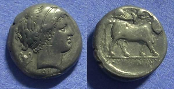 Ancient Coins - Neapolis Campania Didrachm 320-300 BC