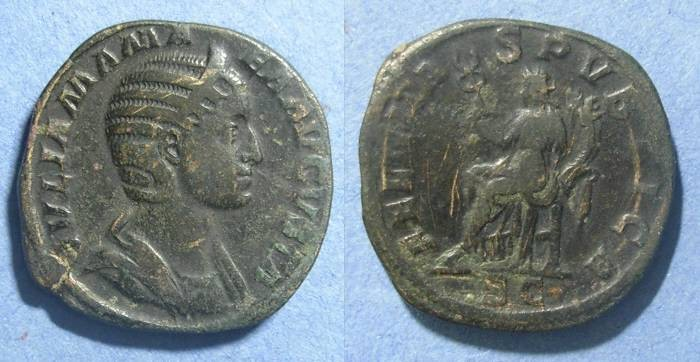 Ancient Coins - Roman Empire, Julia Mamaea 222-235 AD, Sestertius