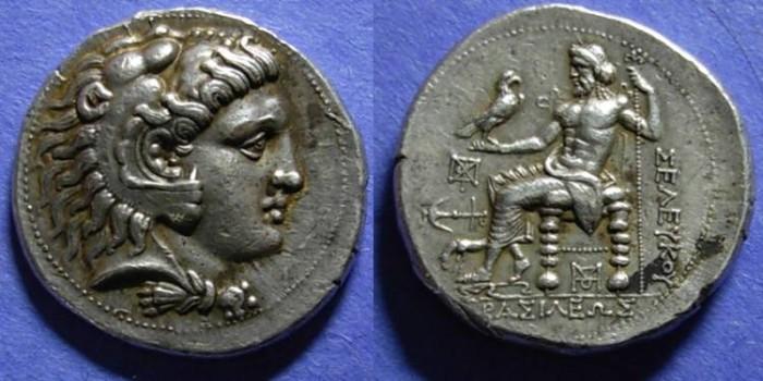 Ancient Coins - Seleucid Kgdm, Seleucos I 312-281 BC, Tetradrachm, Houghton & Lorber plate coin