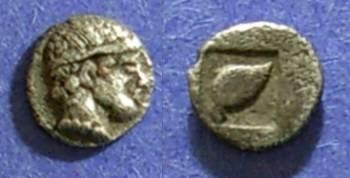 Ancient Coins - Skione, Macedonia 480-450 BC, Hemiobol