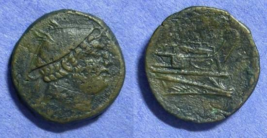 Ancient Coins - Roman Republic Sextans Anonymous 215-211 BC