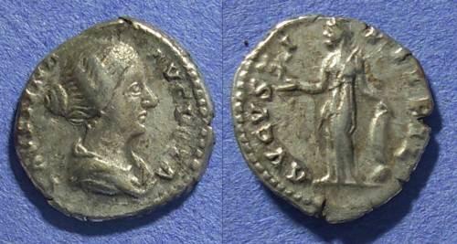 Ancient Coins - Roman Empire, Faustina Jr d. 175 AD, Denarius