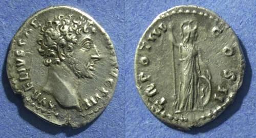 Ancient Coins - Roman Empire, Marcus Aurelius (Caesar) 138-161, Denarius