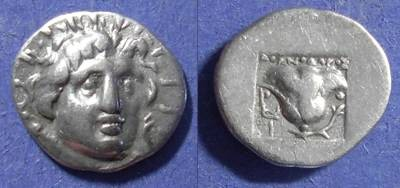 Ancient Coins - Rhodes,  170-150 BC, Hemidrachm