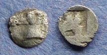 Ancient Coins - Asia minor uncertain,  Circa 450 BC, Tetartemorion