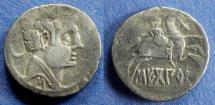 Ancient Coins - Spain, Sekobirikes 150-100 BC, Drachm