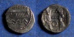 Ancient Coins - Phoenicia, Ba'Alshillem II 401-366 BC, Silver 1/16 Shekel
