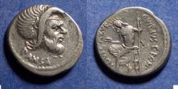 Ancient Coins - Roman Republic, C Vibius C f C n Pansa Caetronianus 48 BC, Denarius