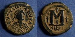 Ancient Coins - Byzantine Empire, Justinian 527-565, Follis