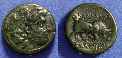 Ancient Coins - Seleucid Kingdom - Seleukos I 312-281 BC - AE 14