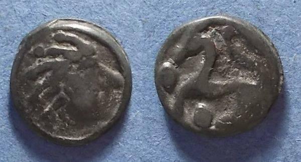 Ancient Coins - Gaul, Senones Circa 50 BC, AE17