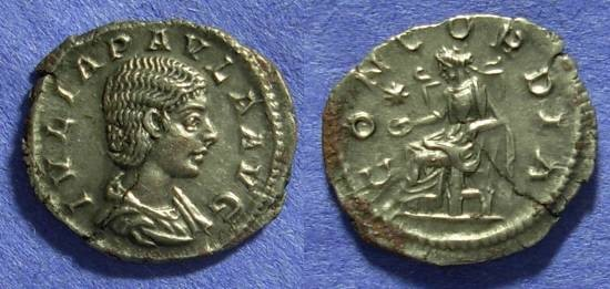 Ancient Coins - Julia Paula – 1st Wife of Elagabalus – 219-220 Denarius