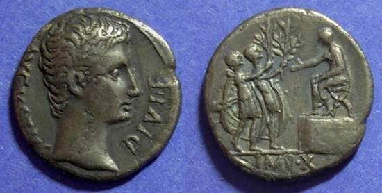 Ancient Coins - Roman Empire, Augustus 27BC - 14AD, Denarius