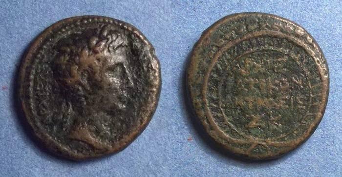 Ancient Coins - Antioch, Seleucia & Pieria, Augustus 27 BC-14AD, AE 27