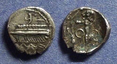 Ancient Coins - Sidon, Phoenicia 372-361 BC, 1/16th Shekel