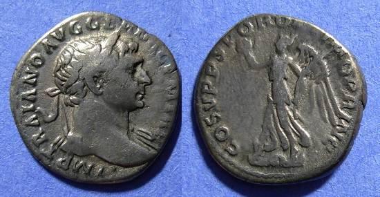Ancient Coins - Trajan 98-117 AD Denarius