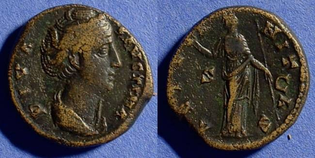 Ancient Coins - Faustina Sr. Wife of A. Pius  d. 141AD As