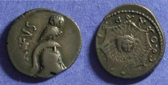 Ancient Coins - Roman Republic, Mn. Cordius Rufus, Denarius 46BC