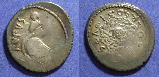 Ancient Coins - Roman Republic, Mn Cordius Rufus 46 BC, Denarius
