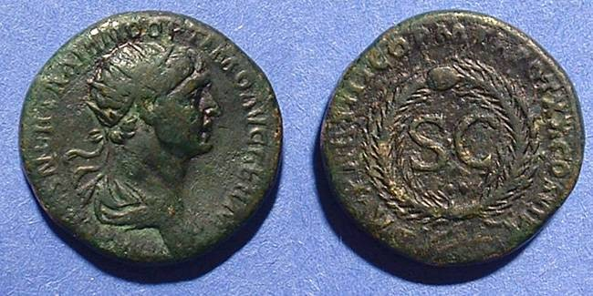 Ancient Coins - Trajan 98-117 AD Orichalcum As of Antioch