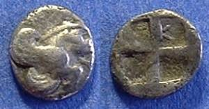 Ancient Coins - Klazomenai Ionia - Diobol Circa 500 BC