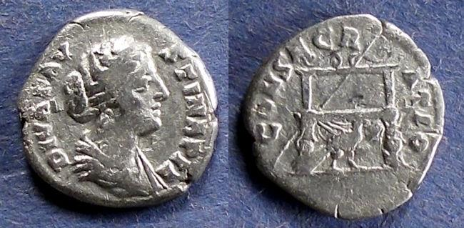 Ancient Coins - Roman Empire, Diva Faustina Jr d. 175, Denarius